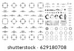 circle and square wicker... | Shutterstock .eps vector #629180708