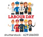 a group of people of different... | Shutterstock .eps vector #629186000