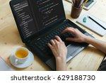 coding code program programming ... | Shutterstock . vector #629188730
