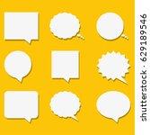 blank empty white speech... | Shutterstock .eps vector #629189546