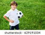 young teen boy in the playing... | Shutterstock . vector #629191034