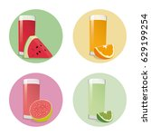 fruit juice   vector | Shutterstock .eps vector #629199254