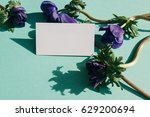 business card mock up with... | Shutterstock . vector #629200694