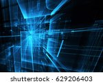 computer generated abstract... | Shutterstock . vector #629206403