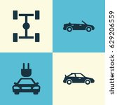 auto icons set. collection of... | Shutterstock .eps vector #629206559
