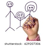 hand drawing family  | Shutterstock . vector #629207306