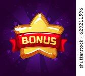 star bonus icon on background...   Shutterstock .eps vector #629211596