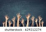 hands showing gestures | Shutterstock . vector #629212274