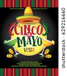 cinco de mayo background... | Shutterstock .eps vector #629216660
