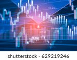 digital data indicator analysis ... | Shutterstock . vector #629219246