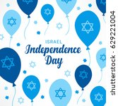 israel independence day... | Shutterstock .eps vector #629221004