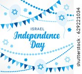 israel independence day... | Shutterstock .eps vector #629221034