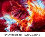 abstract beautiful multicolor... | Shutterstock . vector #629232548