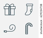 christmas icons set. collection ... | Shutterstock .eps vector #629234738