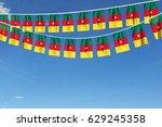cameroon flag festive bunting... | Shutterstock . vector #629245358