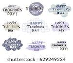 happy teacher's day  poster... | Shutterstock .eps vector #629249234