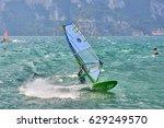 riva del garda  italy  lago... | Shutterstock . vector #629249570