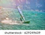 riva del garda  italy  lago... | Shutterstock . vector #629249639