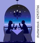an elegant couple enjoying a... | Shutterstock .eps vector #62925766