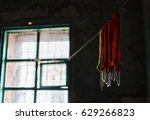 window in the old house. old... | Shutterstock . vector #629266823