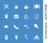 food icons   fast food icon set | Shutterstock .eps vector #629274458