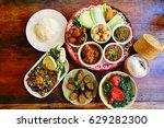 northern food of thailand | Shutterstock . vector #629282300