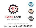 geek tech logo template design... | Shutterstock .eps vector #629284760