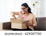 people  delivery  shipping and... | Shutterstock . vector #629287700