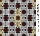 seamless vintage pattern on... | Shutterstock .eps vector #629287874