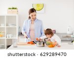 family  food  healthy eating ... | Shutterstock . vector #629289470