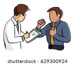 doctor talking history patient. | Shutterstock .eps vector #629300924