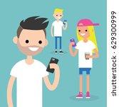 mobile messenger concept.... | Shutterstock .eps vector #629300999