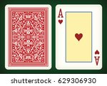 ace of hearts   playing cards... | Shutterstock .eps vector #629306930