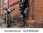 close up of a handsome rider... | Shutterstock . vector #629308184