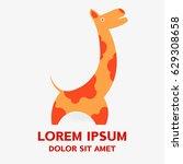 giraffe african logo . vector... | Shutterstock .eps vector #629308658