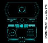 futuristic hud control monitor... | Shutterstock .eps vector #629309198