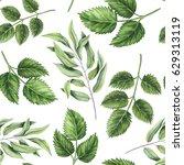 seamless pattern of watercolor... | Shutterstock . vector #629313119