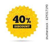 gold glitter web button. 40... | Shutterstock .eps vector #629317190