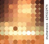 abstract dotted gold and brown... | Shutterstock .eps vector #629322974
