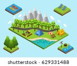isometric outdoor recreation... | Shutterstock .eps vector #629331488