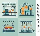 industrial factory interior... | Shutterstock .eps vector #629332589