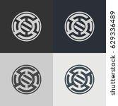 abstract circle logo. logo... | Shutterstock .eps vector #629336489