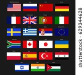 country flags | Shutterstock .eps vector #629344628