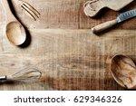 assorted wooden kitchen... | Shutterstock . vector #629346326