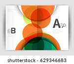abstract circles  annual report ... | Shutterstock .eps vector #629346683