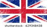 grunge flag of the united... | Shutterstock .eps vector #629348438