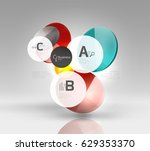circle geometric abstract... | Shutterstock .eps vector #629353370