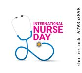 vector international nurse day... | Shutterstock .eps vector #629353898