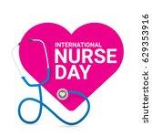 vector international nurse day... | Shutterstock .eps vector #629353916