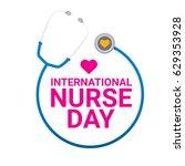 vector international nurse day...   Shutterstock .eps vector #629353928